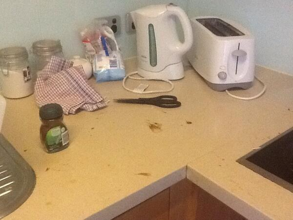 When people tidy the kitchen, but then don't finish the job.