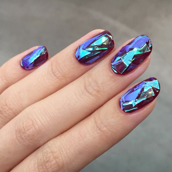 Then get ready to become OBSESSED with glass nails.