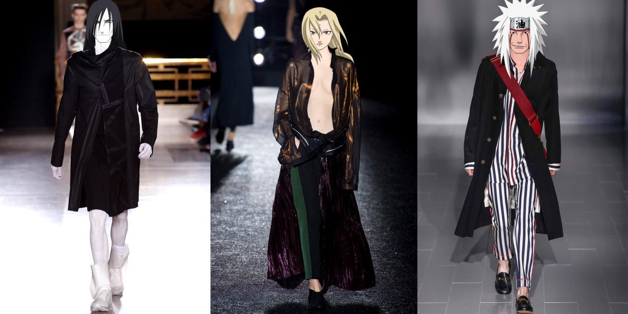 15位《火影忍者》知名角色的頭合成在時尚模特兒身上之後...鳴人光靠時尚度就能順利成為火影了吧?!