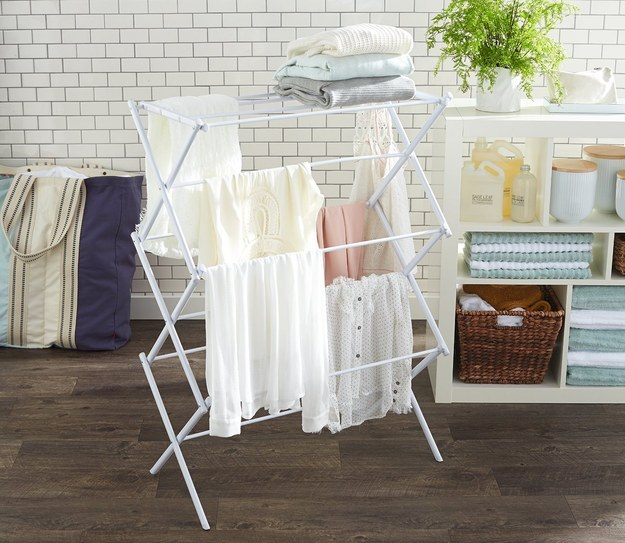 A drying rack that allows you to hand-wash more often.