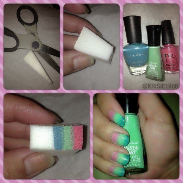 Ombre nails take a lot of work. Or not!