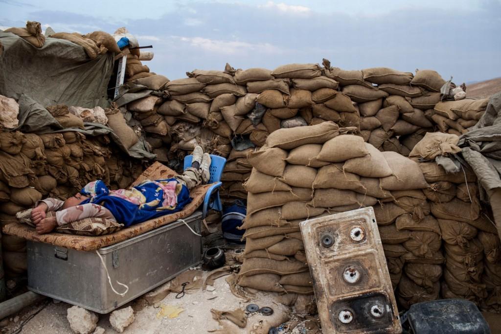 Peshmerga-troops-at-their-base-in-Sinjar-Iraq