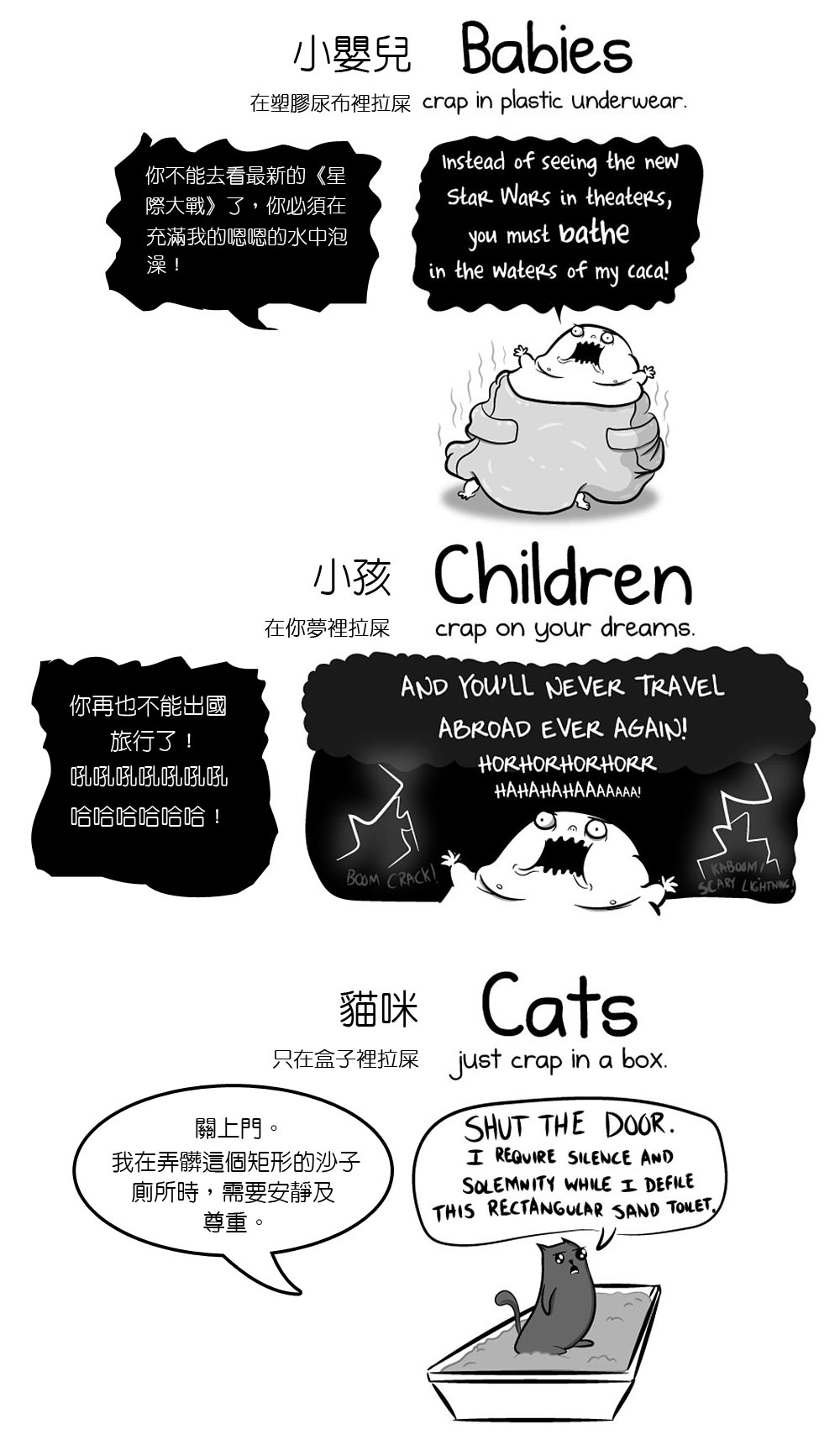 這位漫畫家將「養小孩vs養貓」畫成超諷刺爆笑作品,讓我發現到養貓明顯比較好ㄟ!