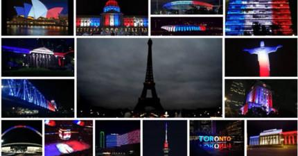 在法國恐怖攻擊後,世界各地的支持反應太讓人感動了!