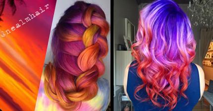 11款耀眼到「路人需要戴墨鏡才能直視你的頭髮」的超夢幻夕陽髮色!