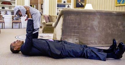37張照片讓你看到歐巴馬總統的唯一弱點就是小朋友!