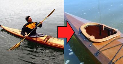 67歲的他退休後決定將獨木舟加以改裝,大家看到超夢幻使用方法後讓網友們羨慕到發狂了!