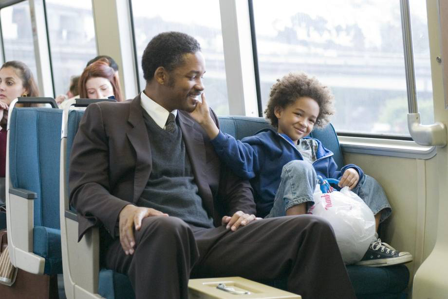 The Pursuit of Happyness   Will Smith plays a down on his luck father who stops at nothing to give his son the life he deserves. The movie chronicles the supposedly true story about his attempts to win a prestigious job, and it's really inspirational. Apparently, in real life, Chris Gardener wasn't as nice of a guy. He wasn't near as attentive to his son, and would supposedly be unaware of the boy's whereabouts while he was out getting that job. He also didn't have the kid with his wife, but with his mistress. Plus, that whole Rubik's cube thing didn't happen, either.