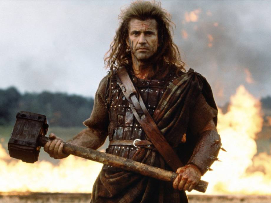 Braveheart  The brilliant biopic of William Wallace, a freedom fighter who kicked ass in 13th century Scotland, is almost completely historically inaccurate. Almost everything that might have happened in reality has been manipulated into something that definitely did not. Primae noctis never existed, kilts weren't even worn in the 13th century, and the Battle of Stirling actually took place on a tiny bridge. Isabelle of France never even met William Wallace in real life, let alone romanced him.