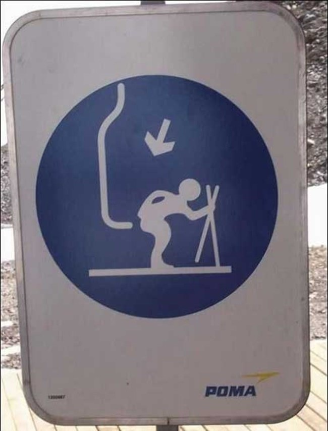 How to ride the ski lift.
