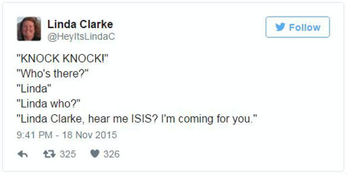 這位太太發了一則「我會摧毀ISIS」臉書動態,於是網友就爆笑幫她完成了這個心願!