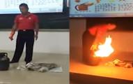 大家見到瓦斯桶著火時第一時間都想奪門而出,但老師只用1秒就讓你看到逃走才是最笨的選擇!
