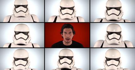 《星際大戰》演員們決定挑戰「單純用口技」重新詮釋星戰主題曲,當頭盔拿掉後原版根本完全被比下去了!