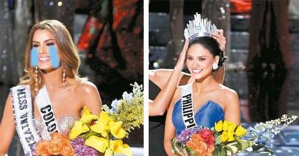 16項「贏得環球小姐后冠之後能獲得的超夢幻選美獎品」。難怪哥倫比亞小姐被叫錯會這麼崩潰失望...