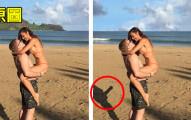 這對情侶拍了完美照片但後面小島有點醜因此上網請網友幫忙PS掉,到最後情況已經完全控制不住了!