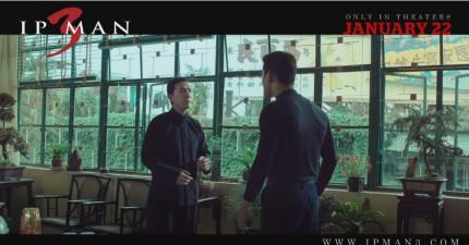 《葉問3》李小龍拜師精采片段流出,看來葉問對李小龍的「速度」很滿意...