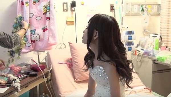 「今天,妳沒有癌細胞!」21歲的她在醫院拍攝美美婚紗照,如今已是美麗的小天使了
