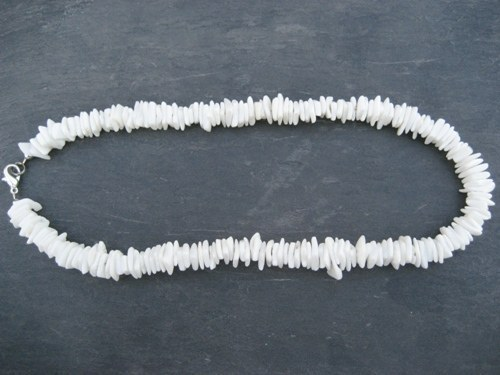 Puka shell necklaces.