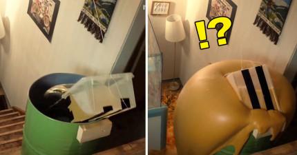 他們不聽勸將「雙氧水和肥皂水」兩桶混合,結果就猛烈到整棟房子都毀掉了。