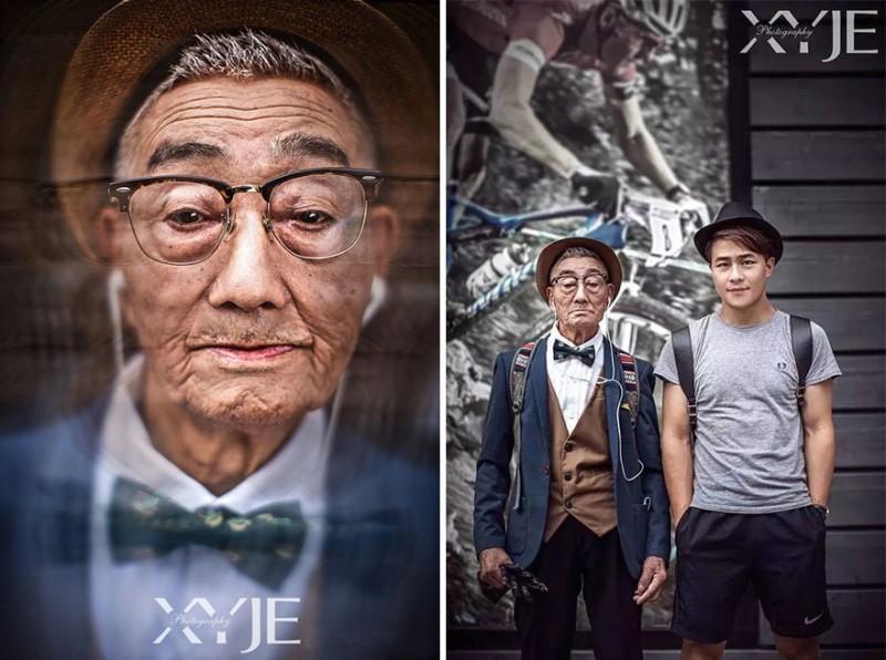 孫子把85歲老爺爺時尚大改造後就瞬間成為網路大紅人,當我看到他原本「100%樸素農夫模樣」我完全不敢相信!