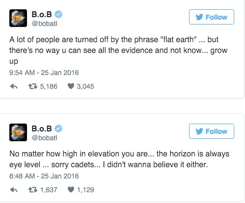 美國饒舌歌手聲稱已經找到了「地球是平的」的最新證據!「以前我也不相信,但地球真的是平的!」