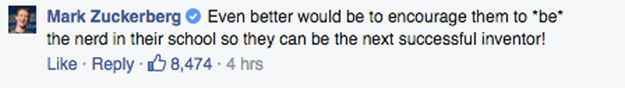 這名祖母粉絲在馬克祖克柏的臉書上留言,但馬克祖克柏的「超完美回應」讓臉書粉絲都瘋狂按讚了!