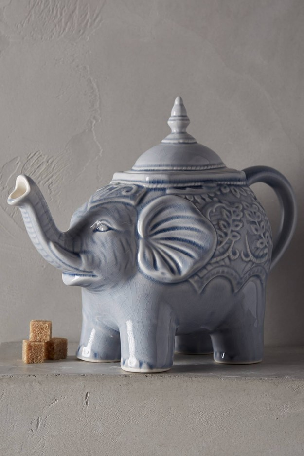 A dignified elephant to dispense a cup of tea.