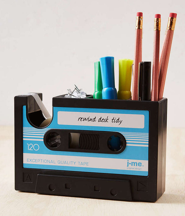 A mixtape to keep your desk organized.