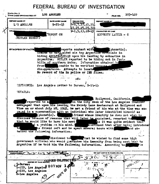超驚爆內幕!CIA特工經過解密資料發現原來希特勒「騙了全世界他根本沒有自殺」,連他之後的去處都有記錄!