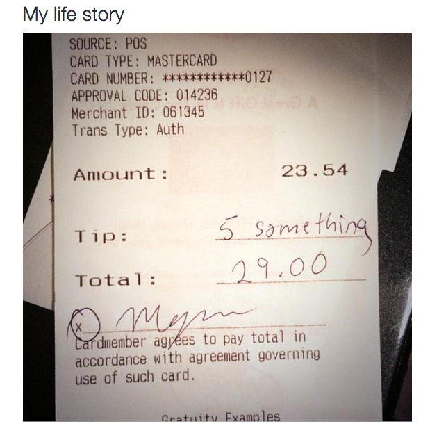 Tipping.