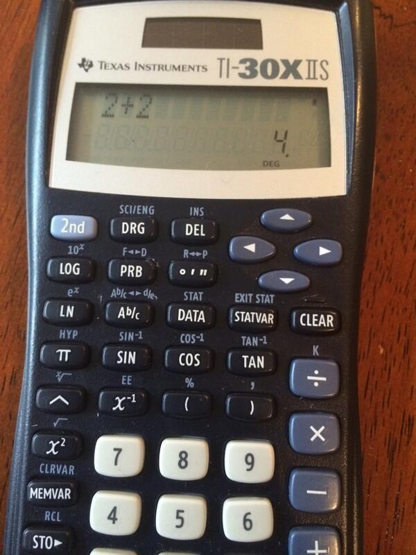 Using a calculator just in case.