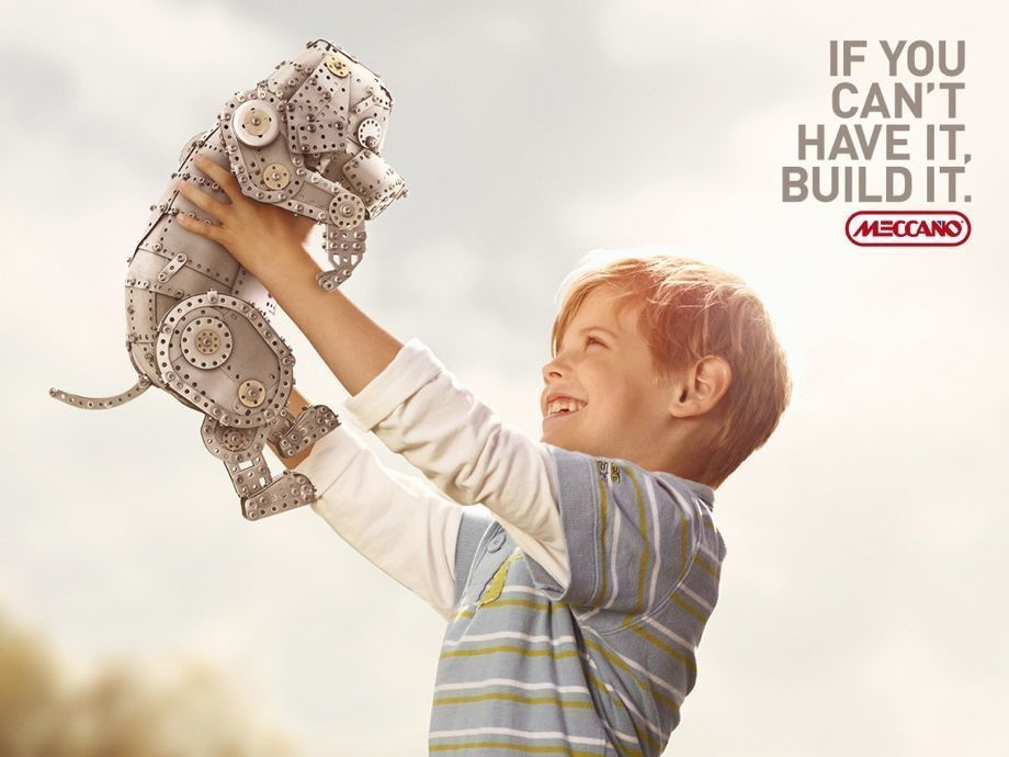 Meccano cleverly appeals to the emotions.