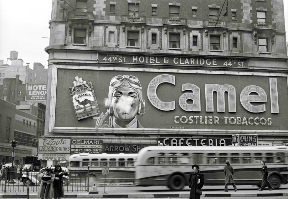 """A 1943 ad for Camel with the """"costlier tobaccos."""""""
