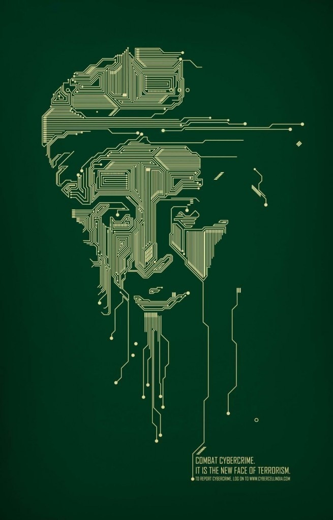 A provocative graphic of Osama Bin Laden.