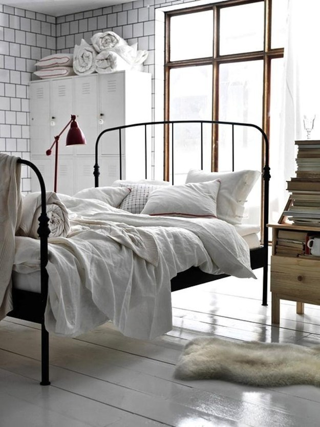 Reposition your bed.
