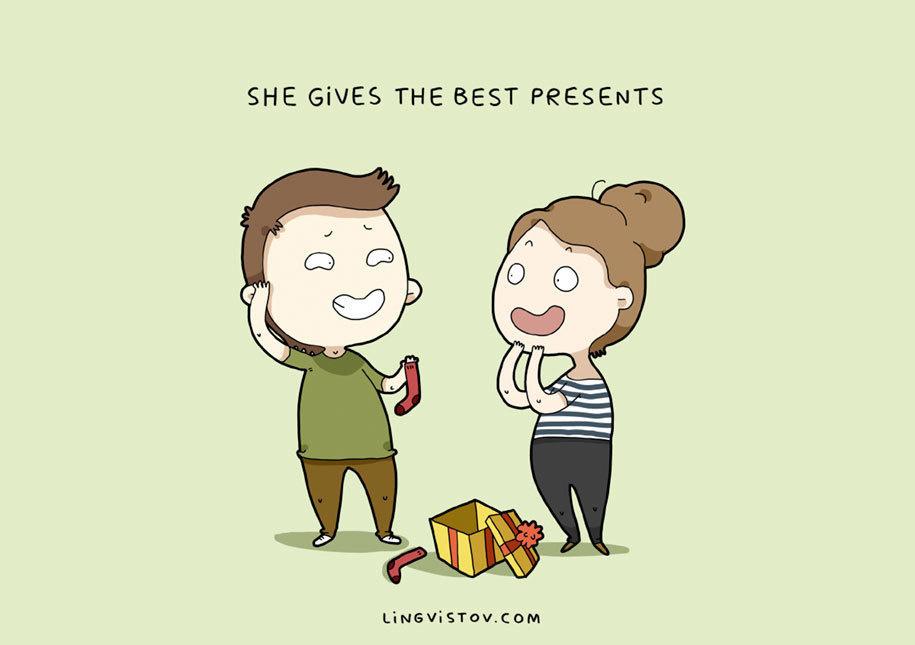12張「只有深深愛著女友的男生」才看得懂的中肯甜蜜插畫