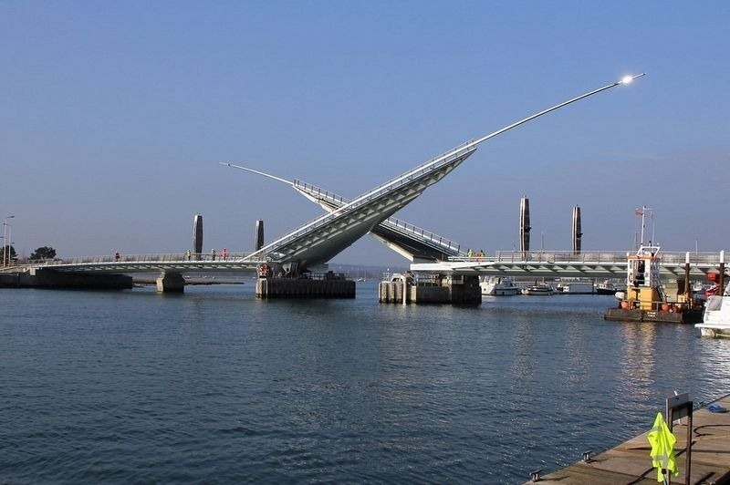 The bridge opens approximately once an hour to allow for maritime traffic.