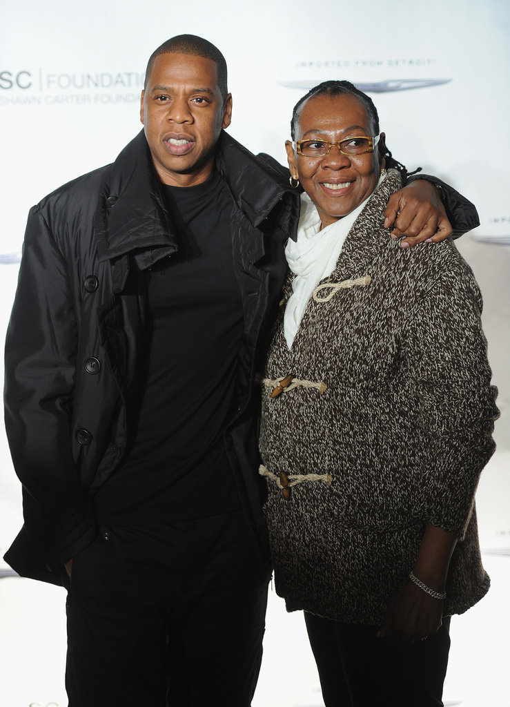 Jay Z and his mother, Gloria Carter.