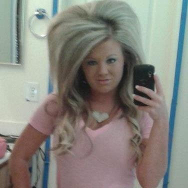 This girl with super big hair.