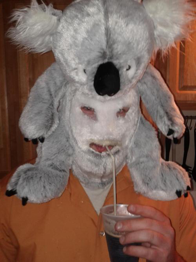 This man in this koala mask.