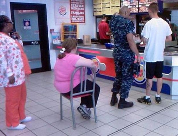 This woman at Burger King.
