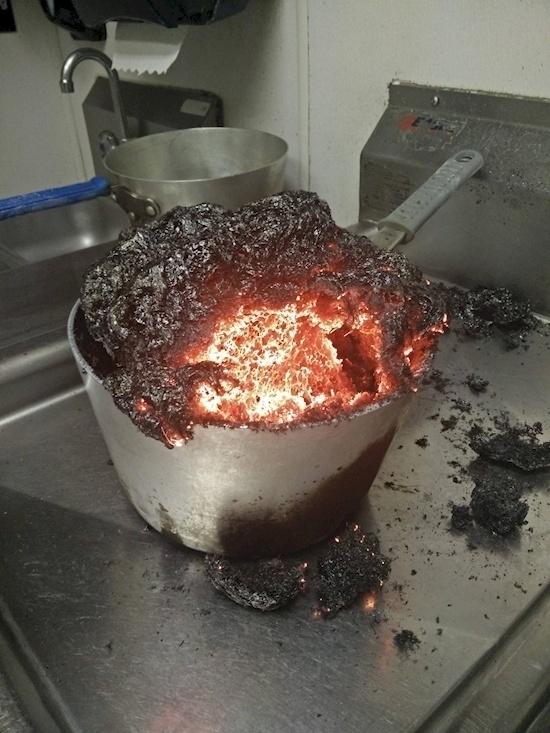Whatcha cookin'? Molten lava?