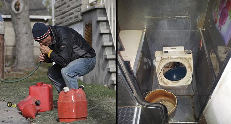 這名小偷原本想用嘴巴吸出公車的油來賣錢,結果沒想到他吸的瞬間才發現吸的不是汽油...