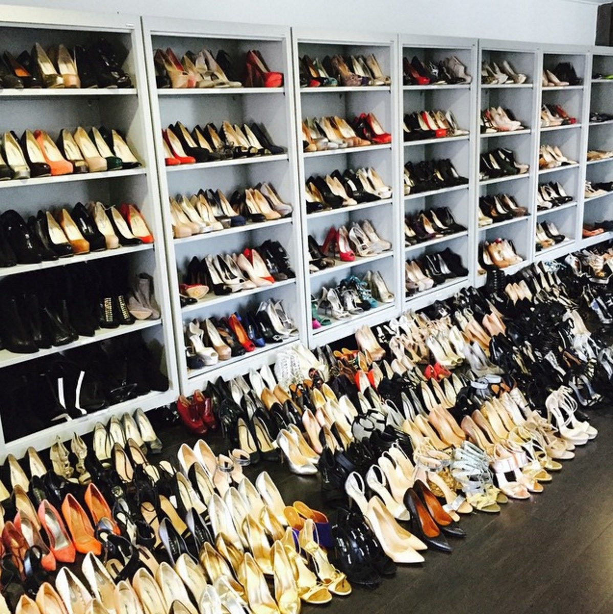 Rachel Zoe loves her shoes, and her closet is a shoe-lover's ultimate fantasy.