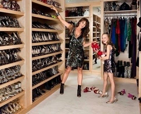 Jimmy Choo founder Tamara Mellon has a closet full of, well, Jimmy Choos.