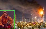 這個男生和坐輪椅的母親在杜拜五星級飯店15樓時忽然燒起大火,他當下就馬上把媽媽背起然後...