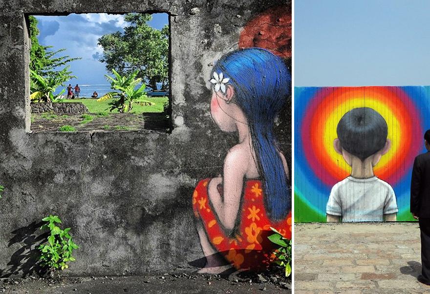當你看完這位曾經來台的法國藝術家在世界各國建築留下的作品,就會相信他說的「畫畫能改變世界」!
