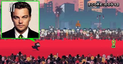網友做了這款「幫助李奧納多贏得奧斯卡」惡搞遊戲,當裡面影帝艾迪瑞德曼大魔王出現時...太賤了!