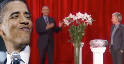 歐巴馬在節目上對老婆情人節喊話,當他說出「我做總統時做了很多決定...」後網友就感動到爆了!
