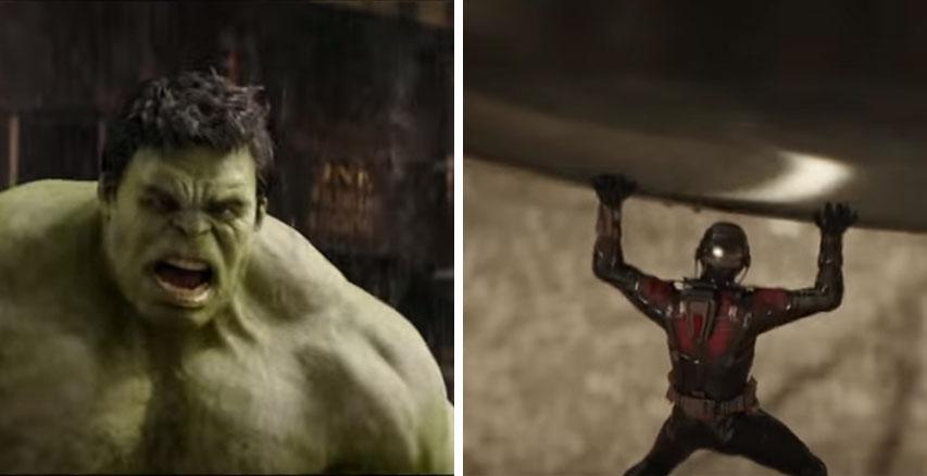 浩克和蟻人為了最無聊的事情大打出手,影片看到最後沒想到浩克還是需要認輸...